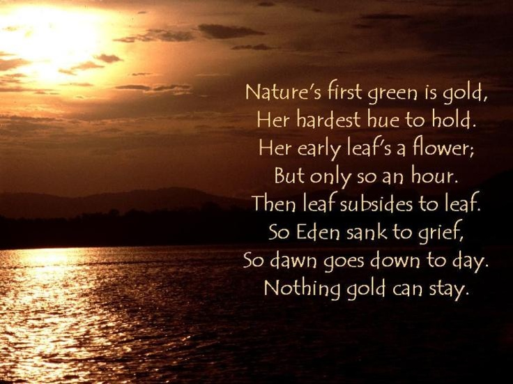 Natures Green is Gold