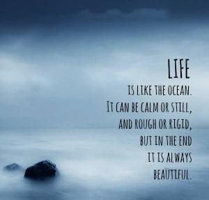 Life rough or calm